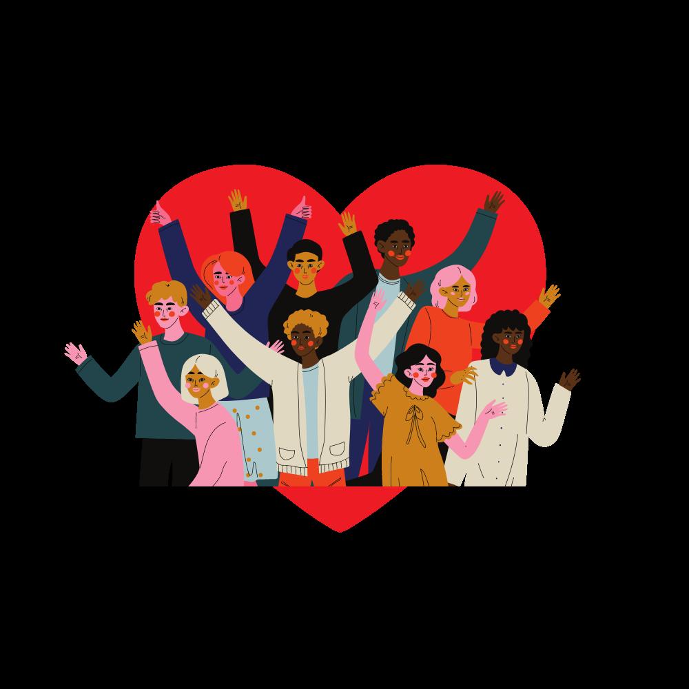 Zusammenhalt, Vielfalt & Liebe
